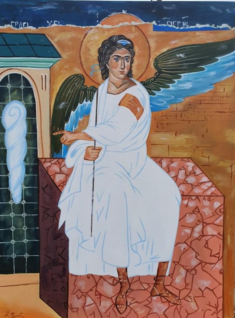 Beli Andjeo, Marija Djukic, ulje na platnu, 80×60 cm, sertifikat, 250 eura