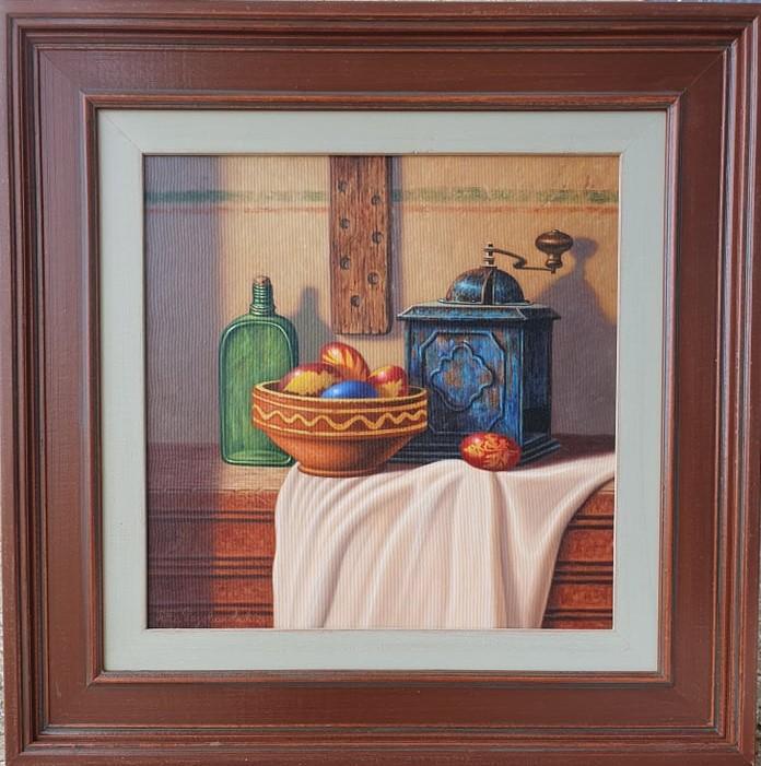 Uskrs, ulje na platnu, sa 59×59 cm, bez 39×39 cm, Predrag Pedja Radovanovic, sertifikat, lux uramljena, 290 eura